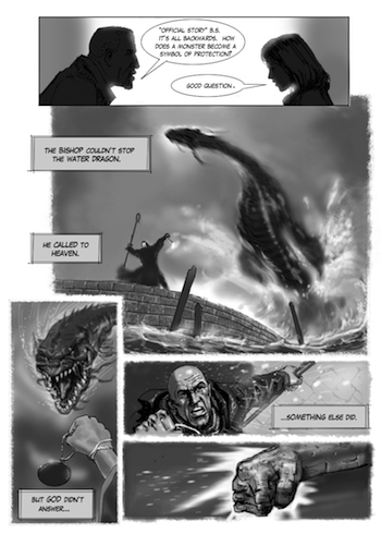 Draft Page of Graphic Novel